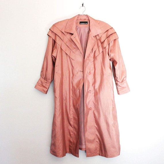 Vintage Pink Tapered Trench Coat - sz L/XL