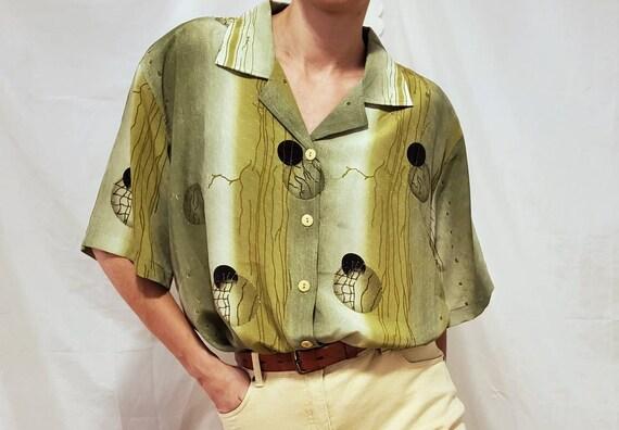 Vintage 2x Green Blouse | Vintage Blouse | Vintage