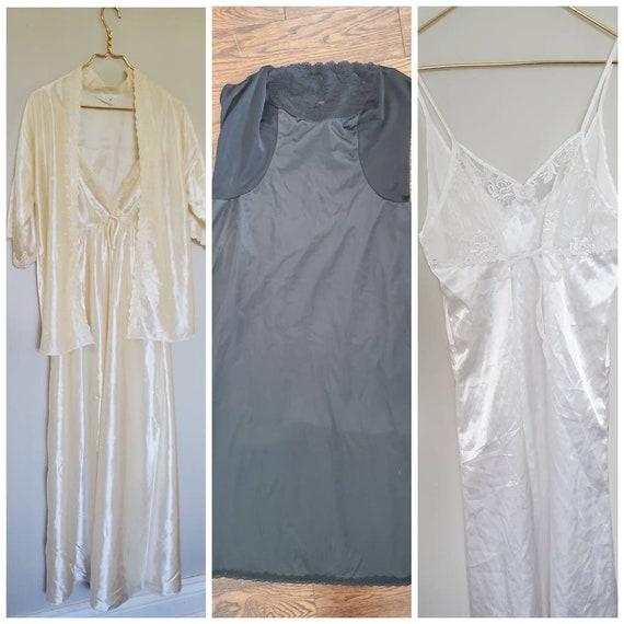 3 Item Lot Vintage Slips / Vintage Nightgowns Lot