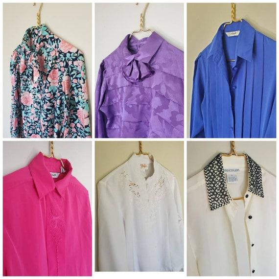 6 blouses size medium, blouselot clothing lot Vint