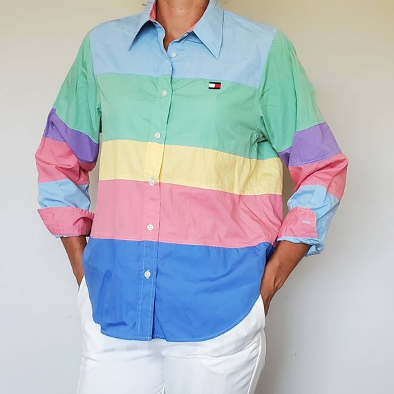 Vintage Tommy hilfiger shirt - vintage tommy hilfi