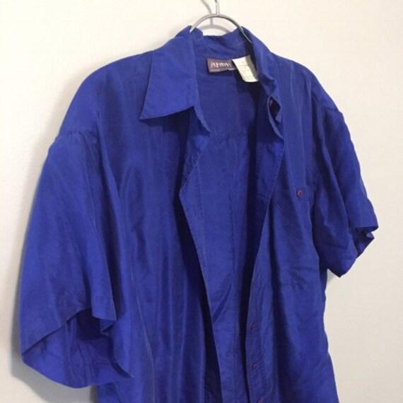 Vintage Lot - 6 Silk Blouse Lot - Silk Lot - Vint… - image 8