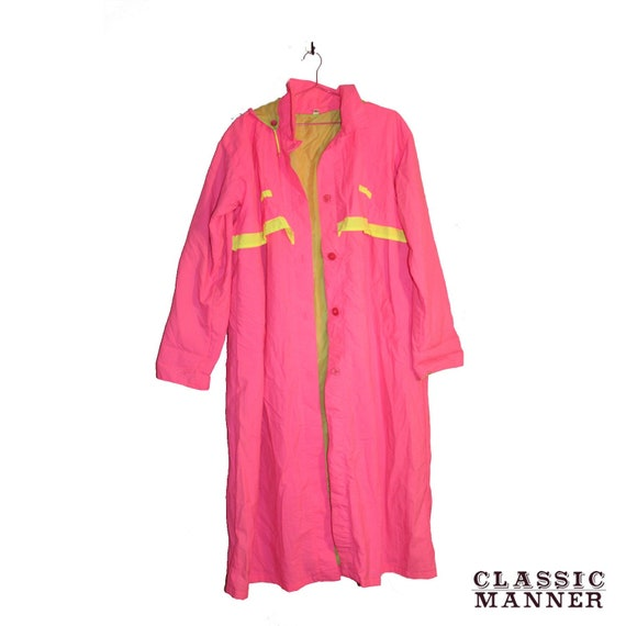 Vintage Neon Pink Trench Coat - Vintage Neon Trenc