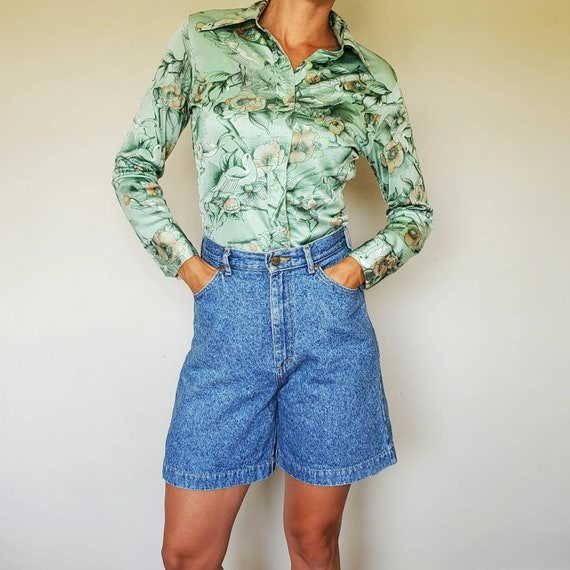 Denim high waist vintage shorts size M vintage hig