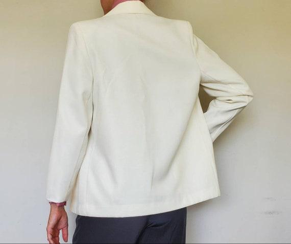 Vintage Oversized White Blazer - Size L/XL White … - image 2