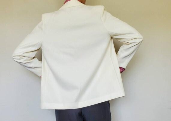 Vintage Oversized White Blazer - Size L/XL White … - image 4