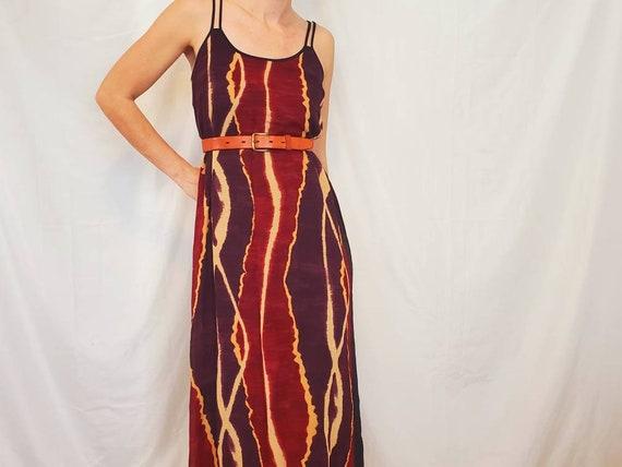Hippie Maxi Dress - Vintage Hippie Dress - Festiva