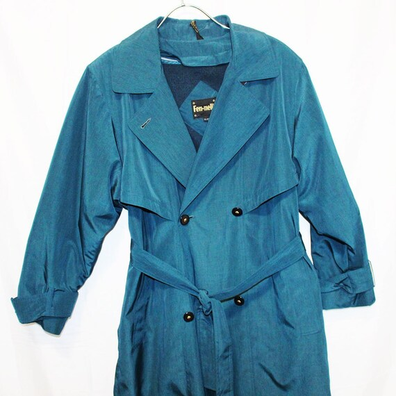 Vintage Blue Iridescent Coat   Blue Irisdescent Coat by Etsy