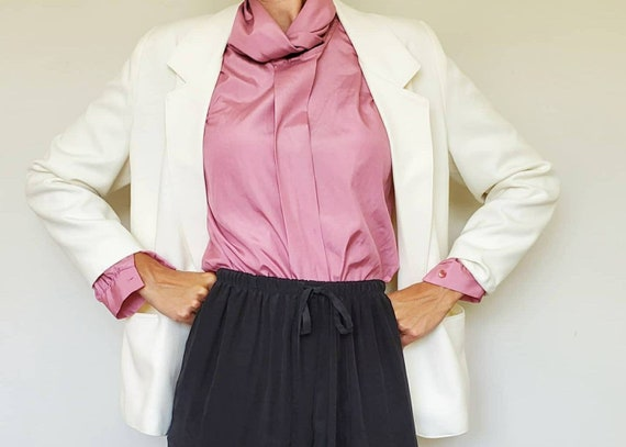 Vintage Oversized White Blazer - Size L/XL White … - image 1