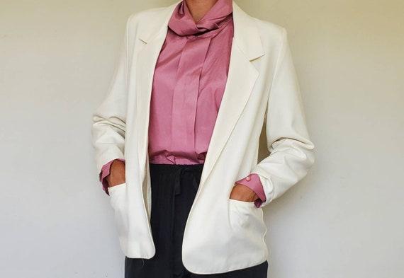 Vintage Oversized White Blazer - Size L/XL White … - image 3