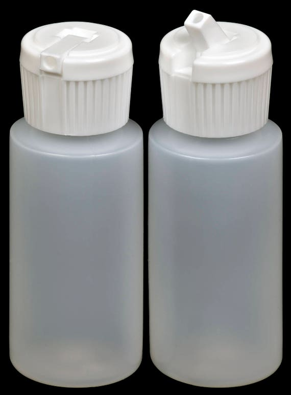 New HDPE Natural 25-Pack Plastic Bottle 8-oz. w//White Turret Lid