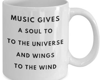 MUSIC Gives Soul to the Universe and Wings to the Wind