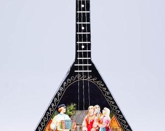 Balalaika Music Box Winter Troika Black