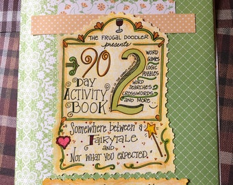 2nd 90 Day Activity Book, 12 full color pages of word puzzles and games, for serious 90 Day Fans, Birthday Gift
