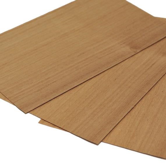 marquetry. 30 x 12 cm crafts models DIY Set of 4 sheets 11.5 x 4.5 Pear real wood veneer 0.6mm