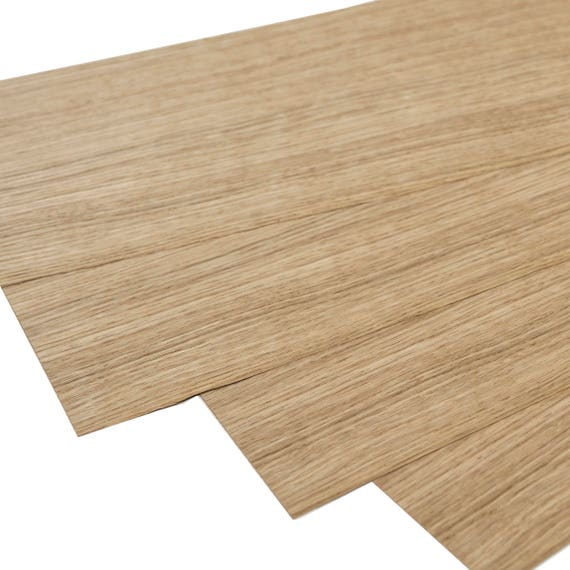 European Oak Quartered Cut Natural Wood Veneer Set Of 4 Sheets 22 X 6 56 X 16 Cm