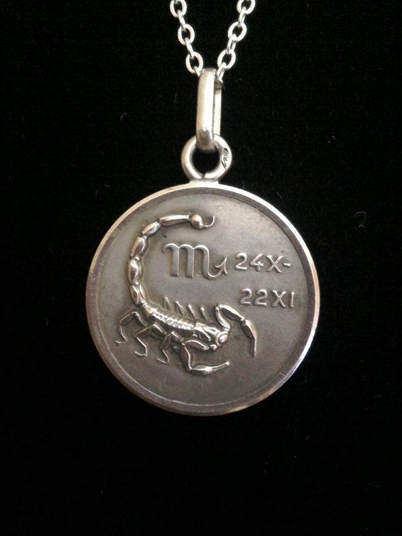 Scorpio Necklace, Zodiac pendant