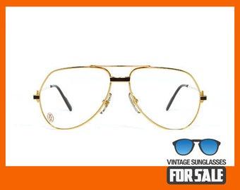 c4c97456698f Vintage eyeglasses Cartier Vendome Laque original made in France 1989