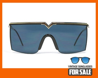 579dee595f57b6 Vintage sunglasses Gianni Versace MOD. S90 COL. 09M Blue made in Italy 1986