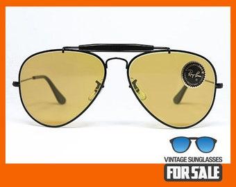 7252a3fa3d vintage RayBan OUTDOORSMAN sunglasses AMBERMATIC 58mm B&L
