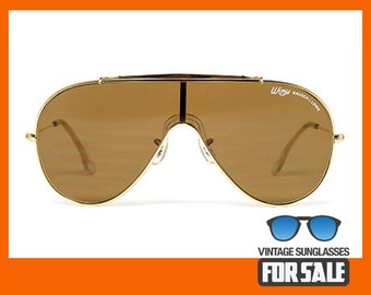 b290b6c57c1 Vintage sunglasses Ray Ban WINGS Gold Arista B-15 by BAUSCH LOMB made in  U.S.A. 1986