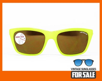 2f6f8af9d6e Vintage sunglasses Bollé 527 Fluo Yellow IREX 100 MIRROR made in France from   80s