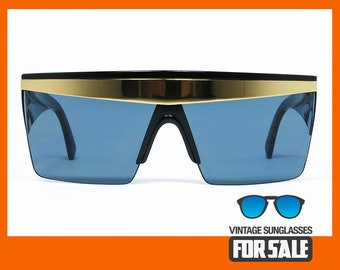 5c35c3a2ee34a Vintage sunglasses Gianni Versace UPDATE 676 col. 852 BK MASK made in Italy  from  80s