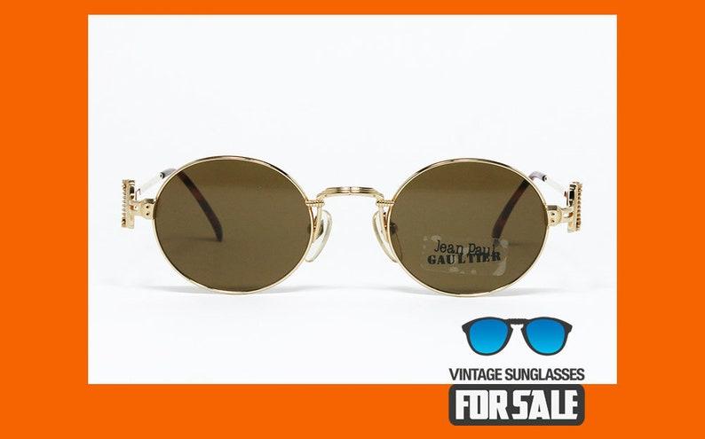 c5bbfc381 Vintage sunglasses Jean Paul Gaultier 55-5106 22k GOLD PLATED | Etsy