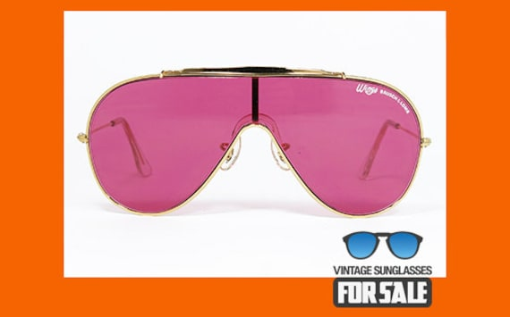 4e2e516f36ee6 Vintage sunglasses Ray Ban WINGS Gold ARISTA by Bausch   Lomb