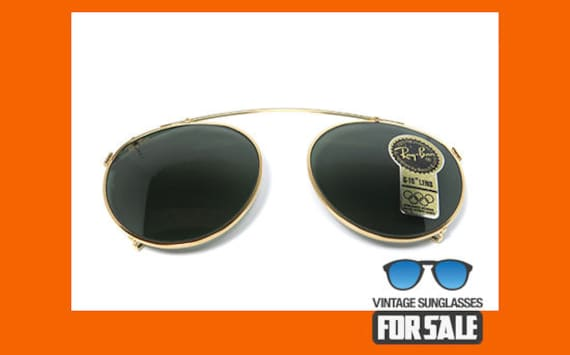 8fb2317457 Vintage sunglasses Ray Ban Clip-On Round 58mm original made in