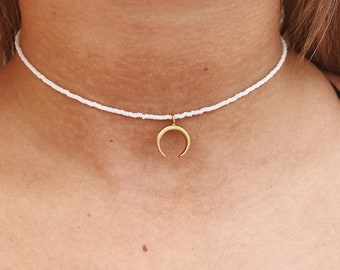 Small Brass Horn Necklace