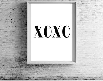 XOXO Gossip Girl Quote Wall Print