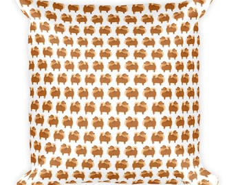 Pomeranian Square Pillow