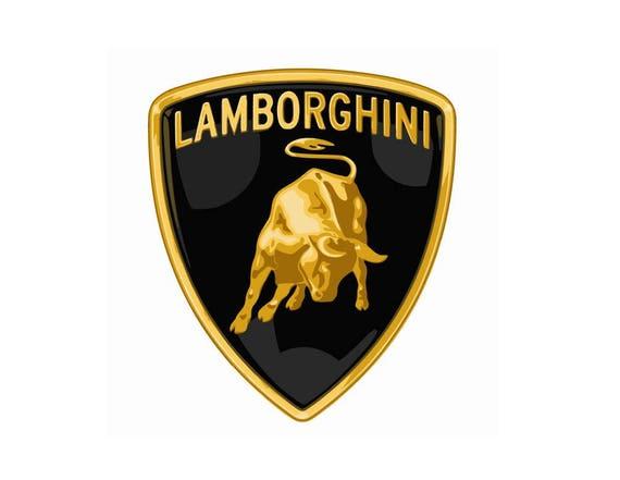 lamborghini logo vector vectorized print ultra high quality etsy rh etsy com lamborghini vector logo eps lamborghini logo vector free download