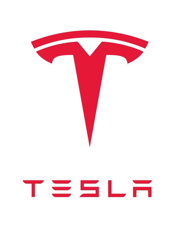 Tesla Model S blue with logo vector vectorized print poster high quality