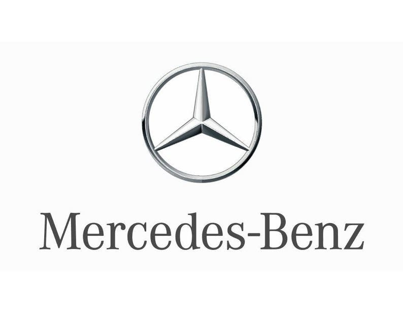 Mercedes Benz Logo Vector Vectorized Print Ultra High Quality Etsy