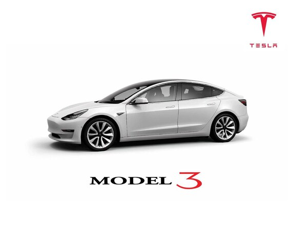 Tesla Model 3 Custom Side Quarter With Text Vector Vectorized Print Ultra High Quality