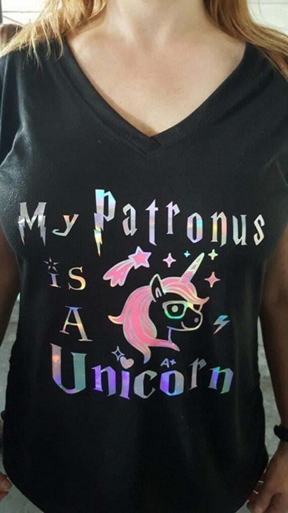 My Patronus Is A Bear t-shirt fitted short sleeve womens