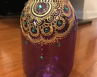 Henna Mason Jars Etsy