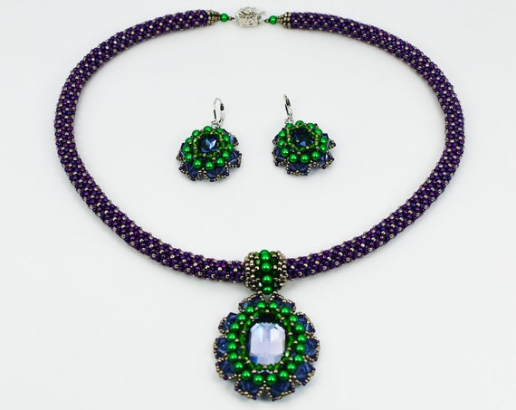 Soleil Necklace and Earrings Tutorial