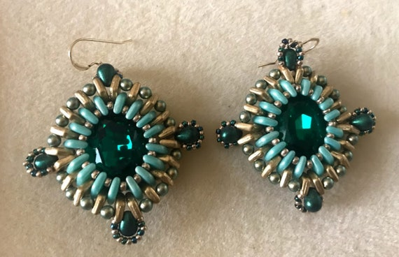 Emerald Earrings Tutorial