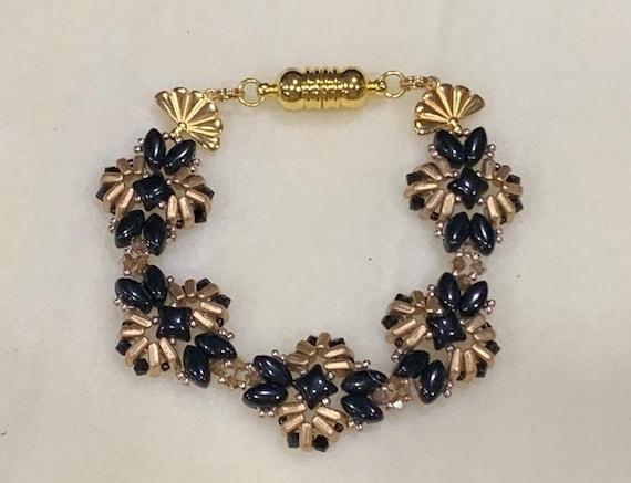 Jewel of the Nile bracelet Tutorial
