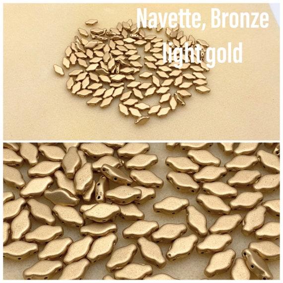 Navette beads, pack of 25