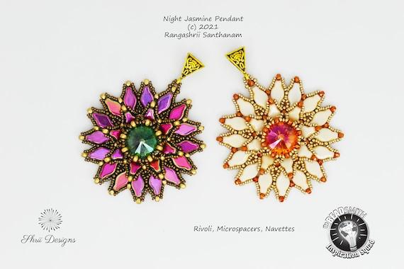 Night Jasmine Pendant and Earrings Supplies Kit