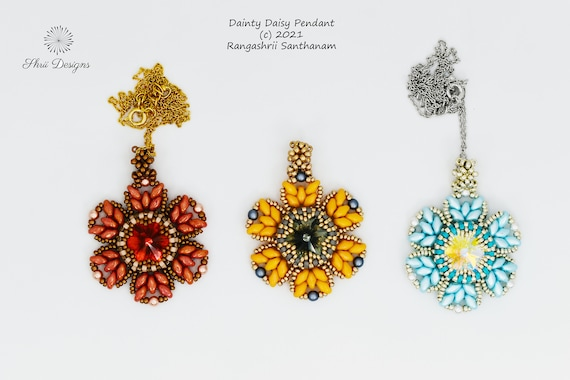 Dainty Daisy Pendant Tutorial
