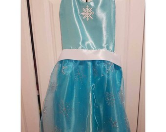 Kids Queen Elsa Inspired Cooking and Play Apron