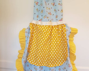 Kids Easter Egg Apron With Flowers Family Aprons-Play