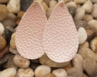 Rose Gold Vegan Leather Earrings