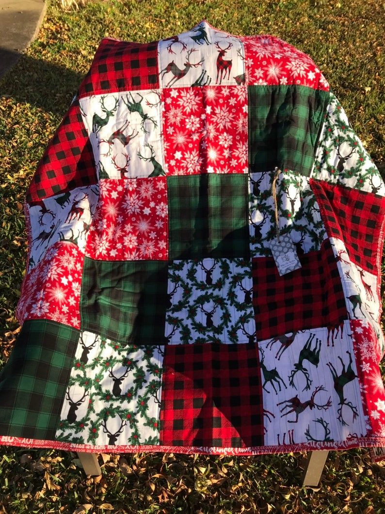 Christmas Holiday Baby Quilt