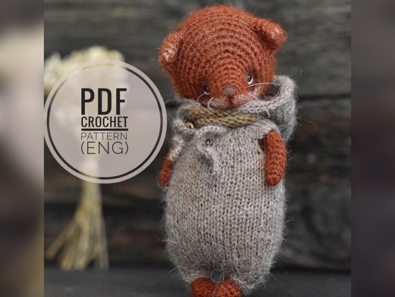 Fox crochet pattern pdf tutorial amigurumi fox pattern image 0